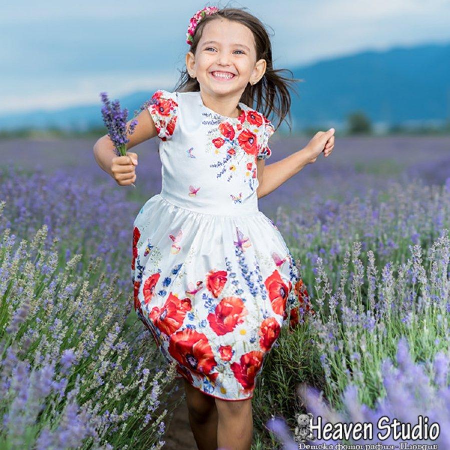 Детски фотосесии в лавандула