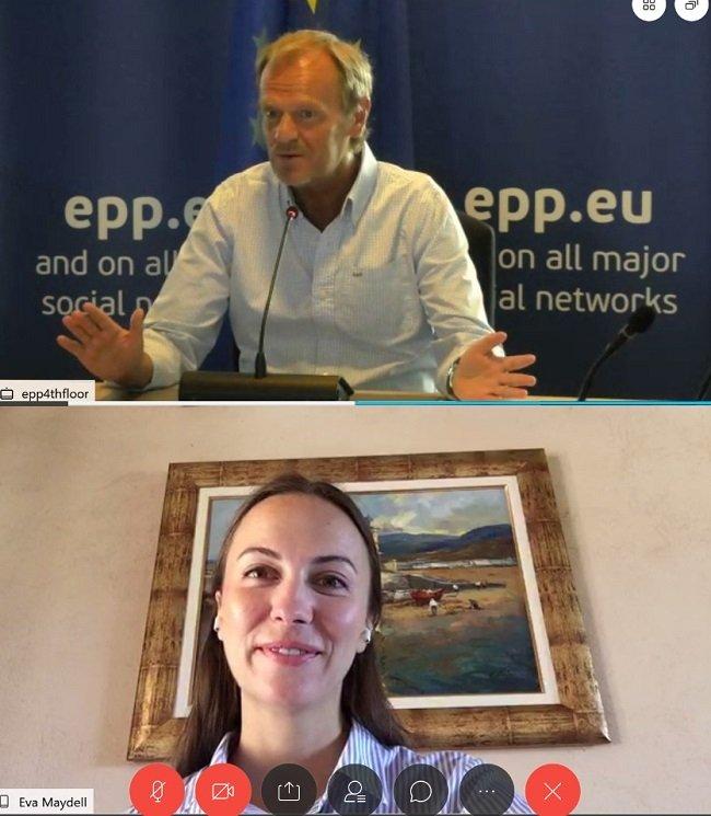 Ева Майдел проведе среща с председателя на Европейската народна партия Доналд Туск