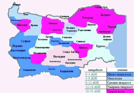 """Какво е """"твърда вода"""" и къде в България е """"най-твърда"""" водата?"""