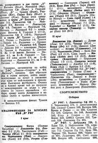 """1986-87 - Единна """"Б"""" група"""