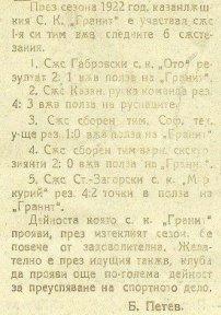 1921-22 - ГРАНИТ